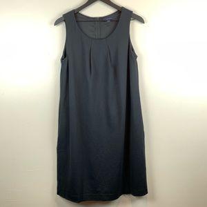 Lands' End Black Sheath Lined Dress 12
